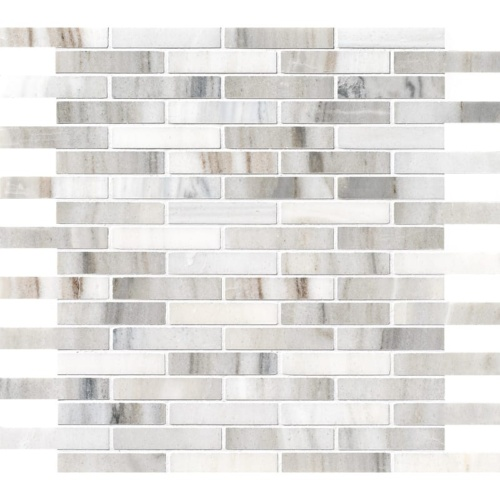 Skyline Polished 5/8×3 Marble Mosaics 12×12