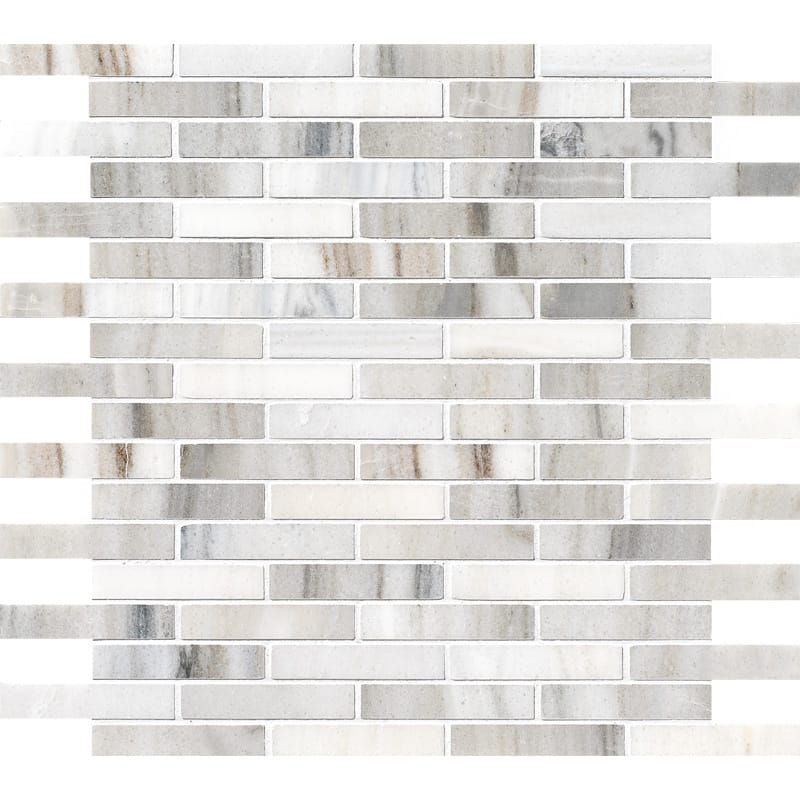 Skyline Polished 5/8x3 Marble Mosaics 12x12
