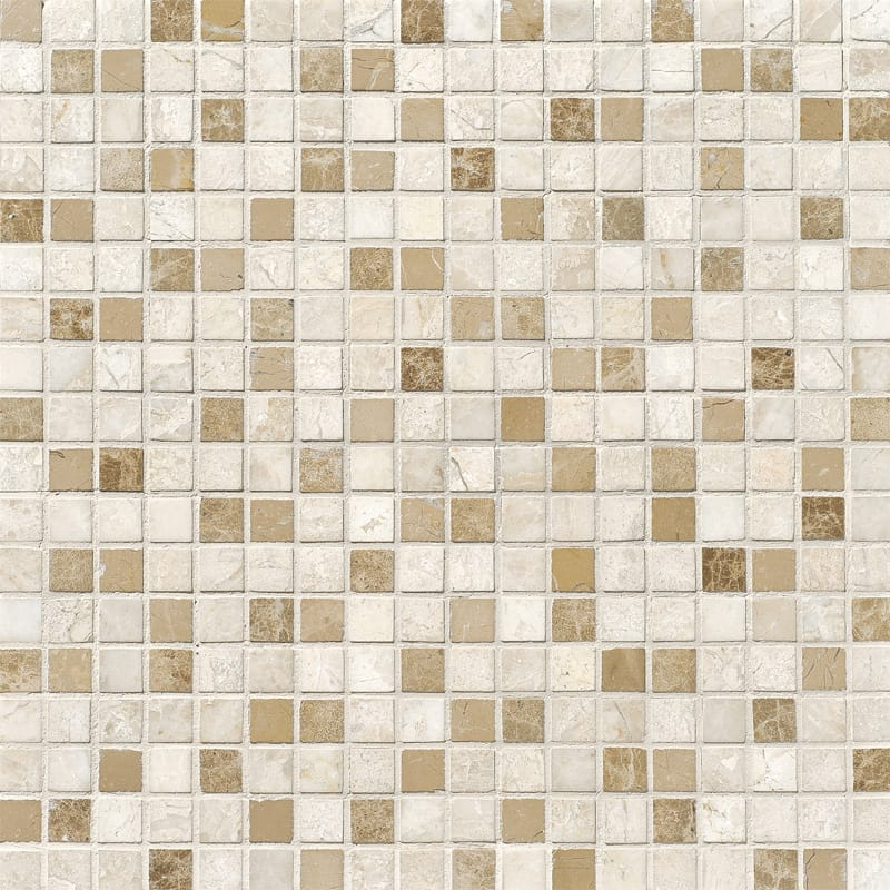 Diana Royal Polished 5/8x5/8 Marble Mosaics 12x12