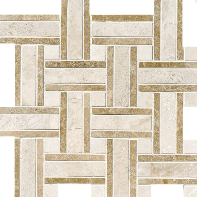 Diana Royal Polished Lattice Marble Mosaics 12x12
