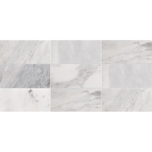 Avenza Honed Subway On Mesh 2 3/4×5 1/2 Marble Mosaics 8 1/2×16 3/4