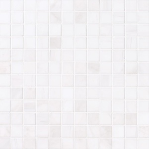 Snow White Polished 1x1 Marble Mosaics 12x12