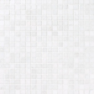 Snow White Polished 5/8x5/8 Marble Mosaics 12x12