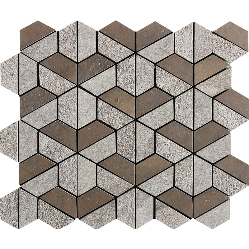 Auberge Textured 10 3/8 X 12 3/8 Hexagon Marble Mosaics