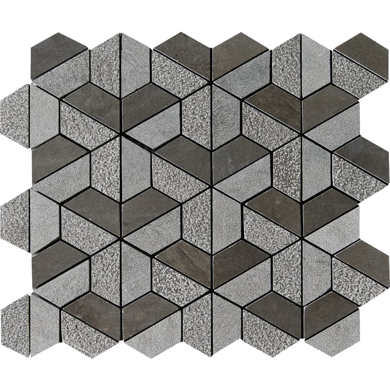 Bosphorus Textured Hexagon Marble Mosaics 10 3/8 X 12 3/8