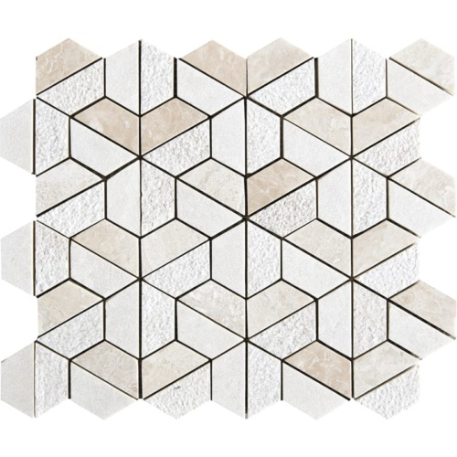 Diana Royal Textured 3d Hexagon Marble Mosaics 10 3/8×12