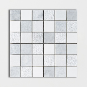 Avenza&snow White&allure Textured 2x2 Marble Mosaics 12x12