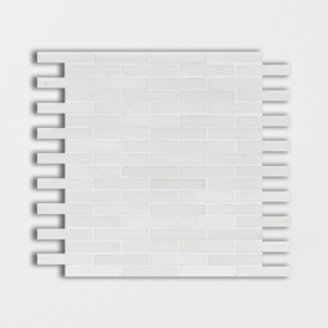 Aspen White Honed 5/8x3 Marble Mosaics 12x12