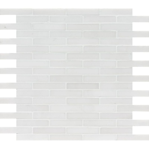 Aspen White Polished 5/8×3 Marble Mosaics 12×12
