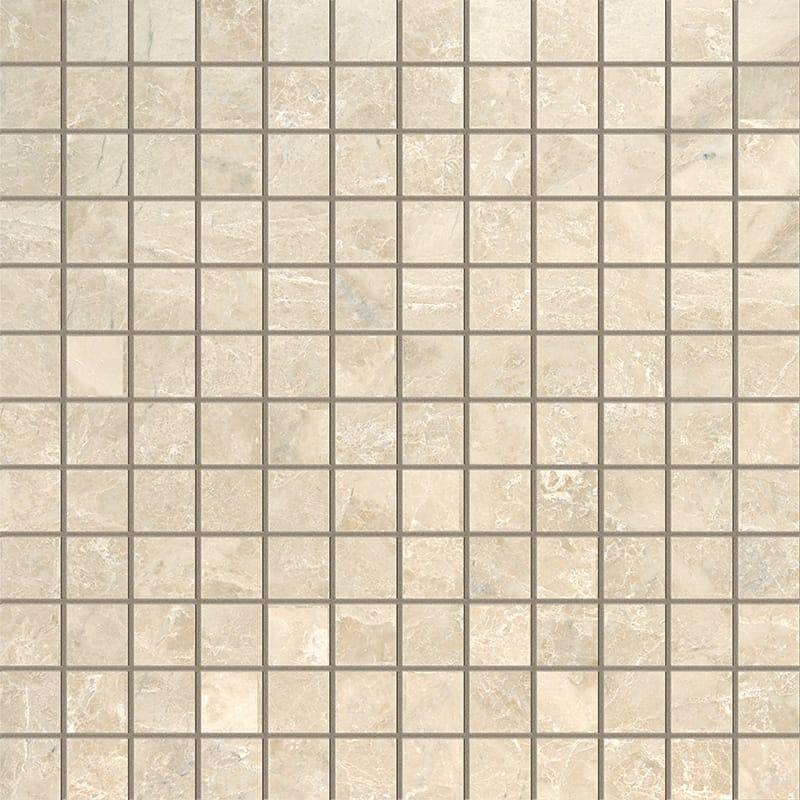 Cappuccino Polished 1x1 Marble Mosaics 12x12