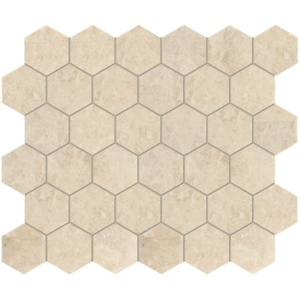 Cappuccino Polished Hexagon Marble Mosaics 10 3/8x12