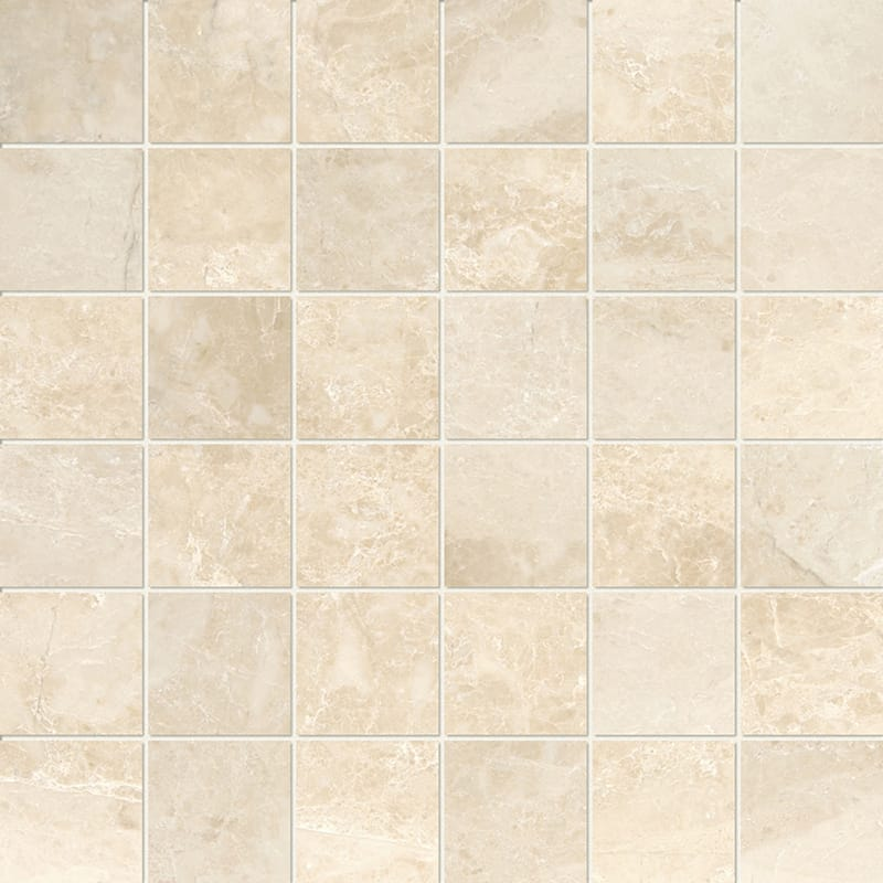 Cappuccino Polished 2x2 Marble Mosaics 12x12