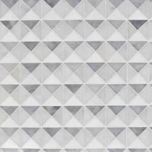 Snow White, Allure, Glacier Multi Finish Devon Marble Mosaics 12 1/2x12 1/2