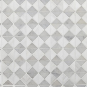 Avalon, Glacier, Snow White Multi Finish Devon Marble Mosaics 12 1/2x12 1/2