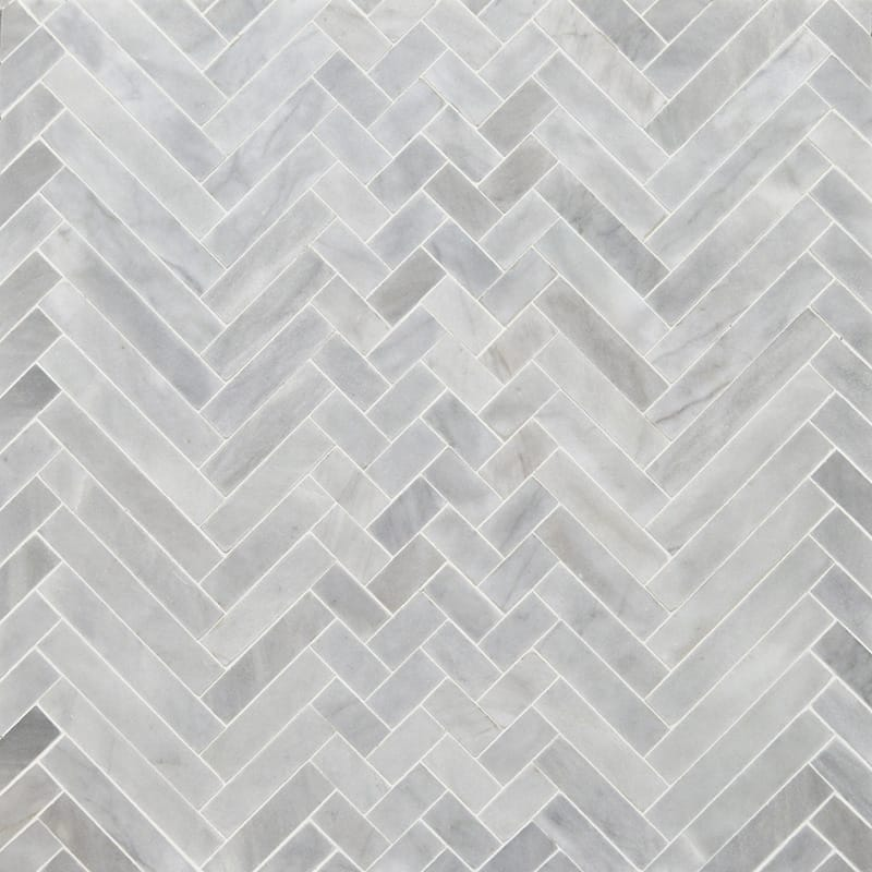 Avenza Honed Mixed Herringbone Marble Mosaics 16 5 6x12 1