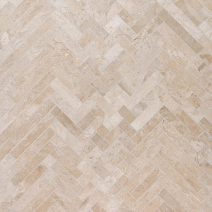 Diana Royal Honed Mixed Herringbone Marble Mosaics 16 5/6x12 1/16
