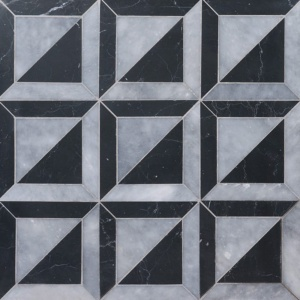 Allure, Black Multi Finish York Marble Mosaics 11 15/16x11 15/16