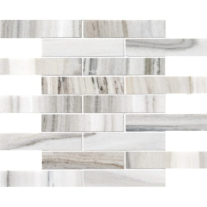 Skyline Honed 1 1/4x6 Marble Mosaics 12x12