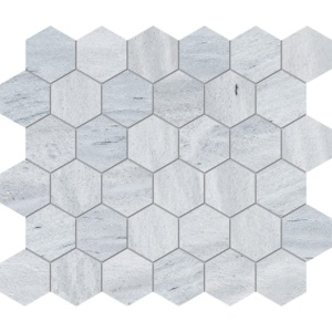 Neptune White Honed Hexagon Marble Mosaics 10 3/8x12