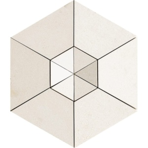 Champagne Honed Hexagon 2 Limestone Mosaics 10 5/8