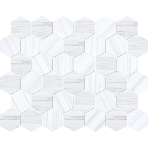 Bianco Dolomiti Classic Polished Hexagon Marble Mosaics 10 3/8×12