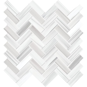 Frost White Honed Marble Mosaics 12 1/8x13 3/8