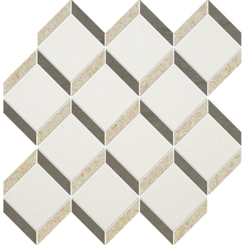 Champagne, Seashell, Bosphorus Honed Steps 3d Limestone Mosaics 14 9/16×14 15/16