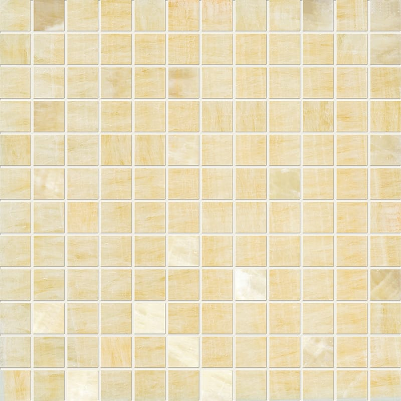 Golden Onyx Polished 12x12 1x1 Onyx Mosaics