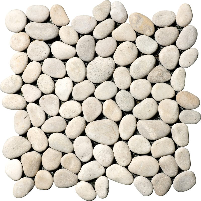 Nile Grey Tumbled 12x12 Pebble Stone Pebble Mosaics