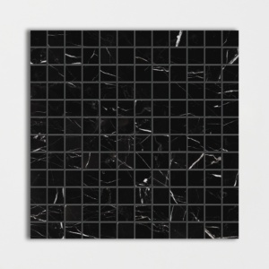 Black Honed 1x1 Marble Mosaics 12x12