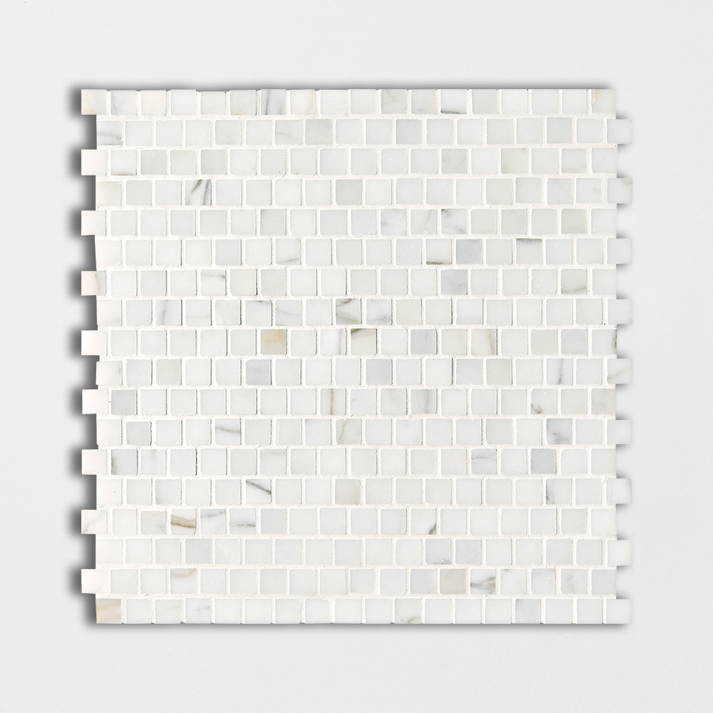 Calacatta Gold Polished 5/8x5/8 Marble Mosaics 12x12