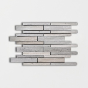 Haisa Light Honed Staggered Joint Marble Mosaics 9x12