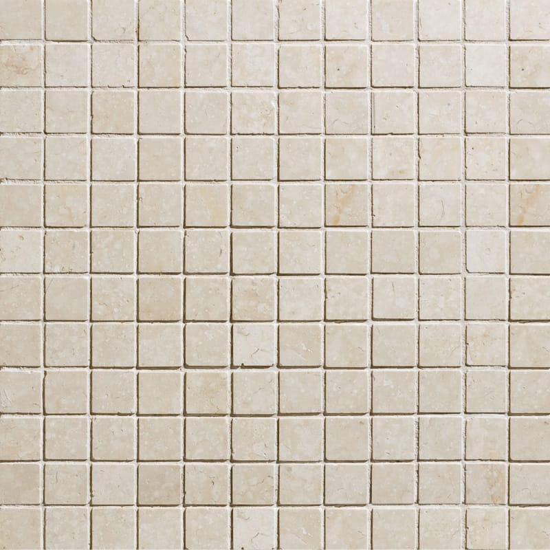 Alexander Cream Honed 12x12 1x1 Marble Mosaics