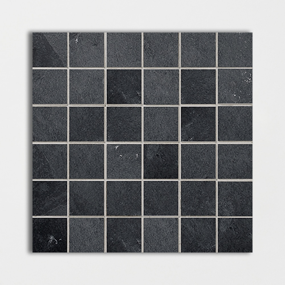 Ember Ash Natural Cleft 2x2 Slate Mosaics 12x12