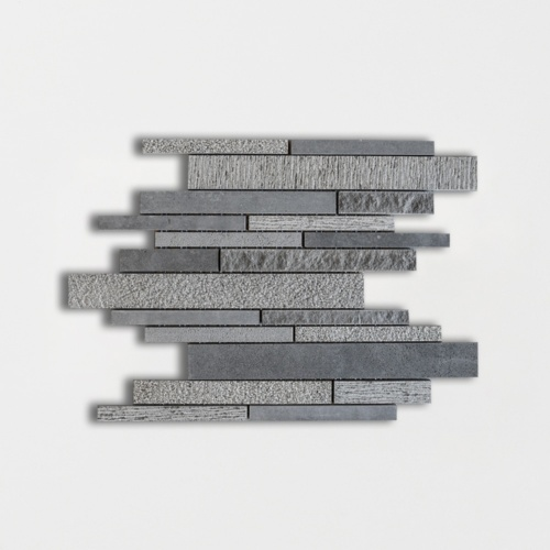 Basalto Multi Finish Split Face Basalt Mosaics 11 1/2×11 13/16