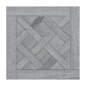 Haisa Blue Honed Parquet De Chantilly Marble Waterjet Decos 8 1/2x8 1/2