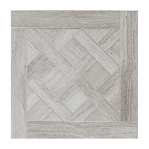 Haisa Light Honed Parquet De Chantilly Marble Waterjet Decos 8 1/2x8 1/2