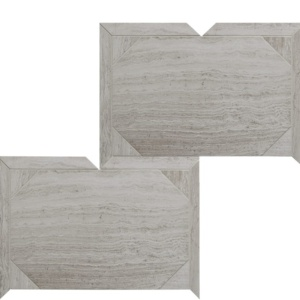 Haisa Light Honed Serie Parquet Marble Waterjet Decos 12 1/4x16 3/16