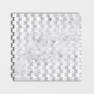 Haisa Blue Honed Offset 5/8x5/8 Marble Mosaics 12x12