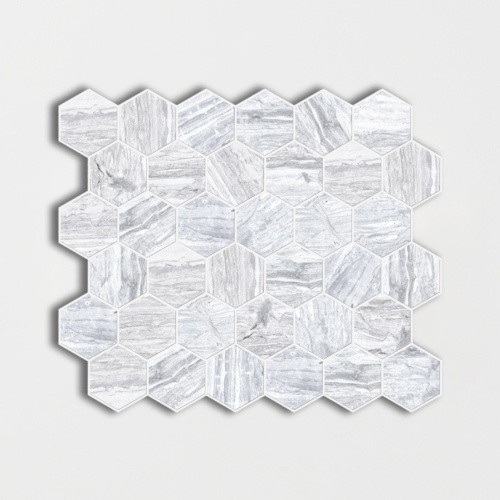 Haisa Blue Honed Hexagon Marble Mosaics 12×12