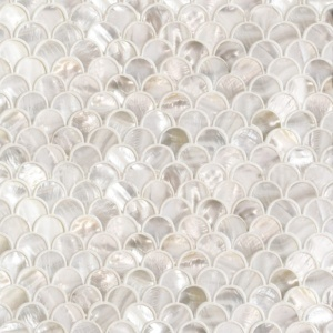 Mother Of Pearl Polished Scallop Iridescent Shell Mosaics 12x12