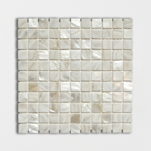 Mother Of Pearl Polished 1×1 Iridescent Shell Mosaics 12×12