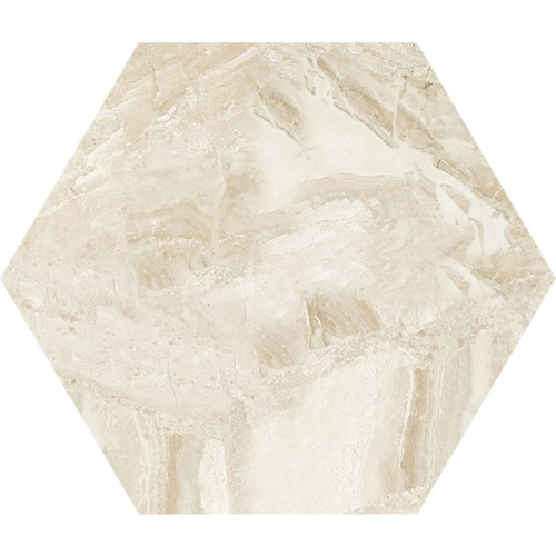Diana Royal Honed Hexagon Marble Waterjet Decos 5 25/32×5