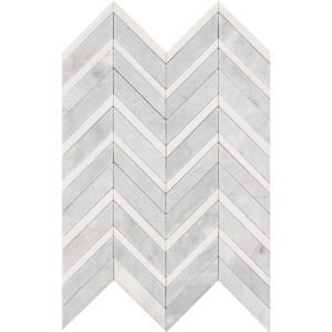 Avenza Honed&polished Chevron Fusion Marble Waterjet Decos 16x11 7/8