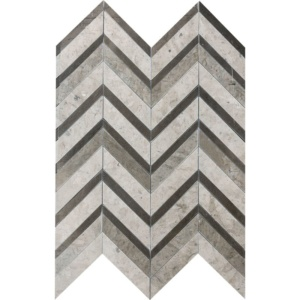 Bosphorus Honed Chevron Fusion Limestone Mosaics 16x11 7/8