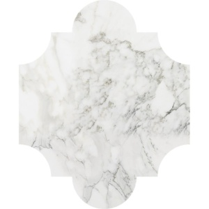 Calacatta Gold Polished San Felipe Marble Waterjet Decos 8x9 3/4