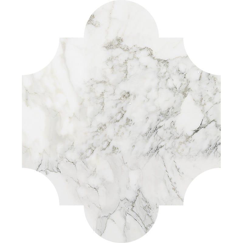 Calacatta Gold Polished San Felipe Marble Waterjet Decos 8×9 3/4