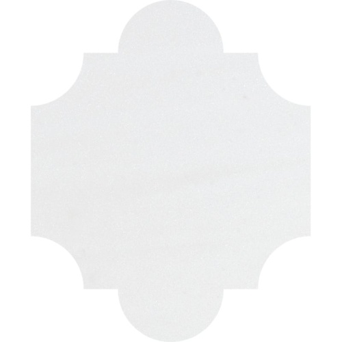 Aspen White Polished San Felipe Marble Waterjet Decos 8×9 3/4