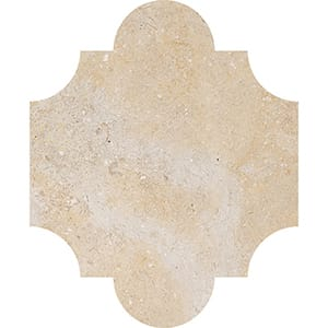 Seashell Honed San Felipe Limestone Waterjet Decos 8x9 3/4