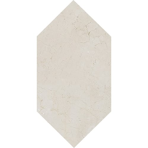 Crema Marfil Honed Large Picket Marble Waterjet Decos 6×12